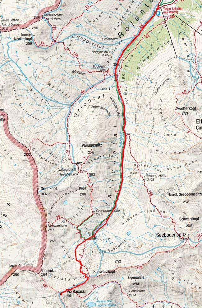 Piz Rasass (2941 m) von Rojen