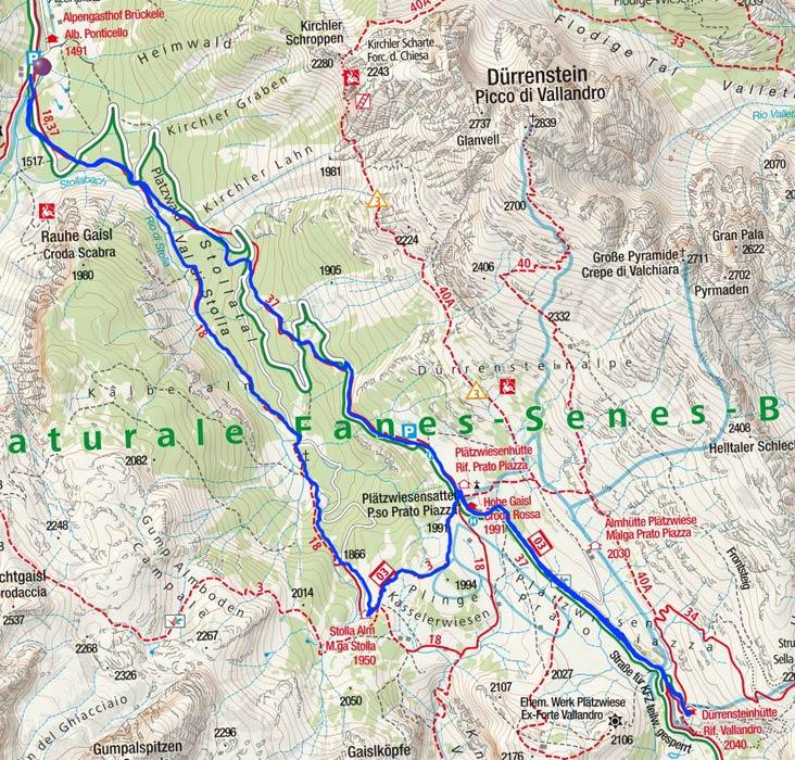 Durch das Stollatal auf die Plätzwiese und zur Dürrensteinhütte