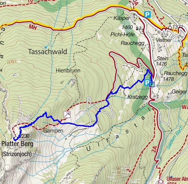 Platter Berg (Stritzonjoch, 2230 m) von Ulfas