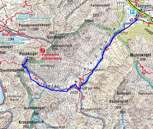 Pockkogel (2807 m) von Haggen