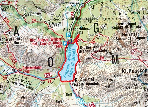 Pragser Wildsee Umrundung
