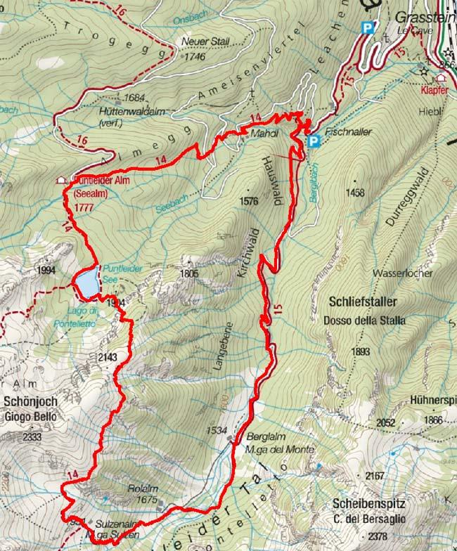 Vom Puntleiderhof über die Berglalm und Sulzenalm zum Puntleider See