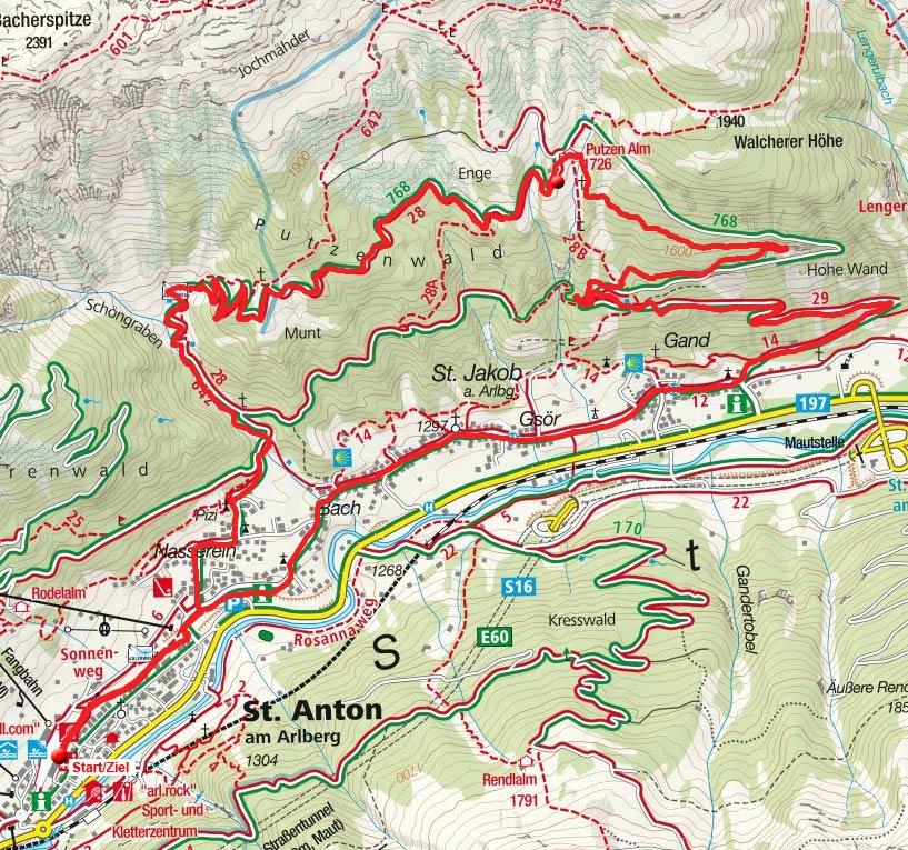 Putzenalm Rundfahrt von St. Anton