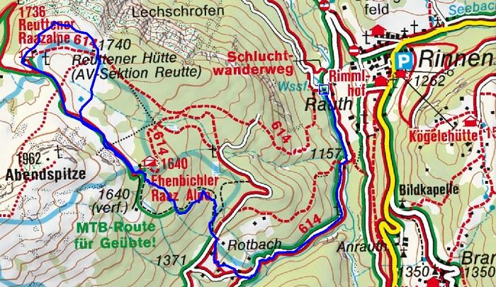 Raaz-Alpe (1736m) über Ehenbichler Alm bei Berwang