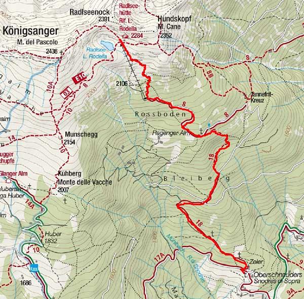 Radlseehütte (2284 m) von Oberschnauders