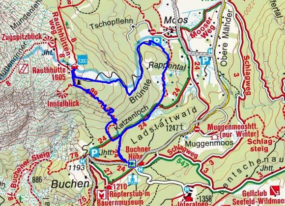 Rauth Hütte (1605 m) von der Buchener Höhe