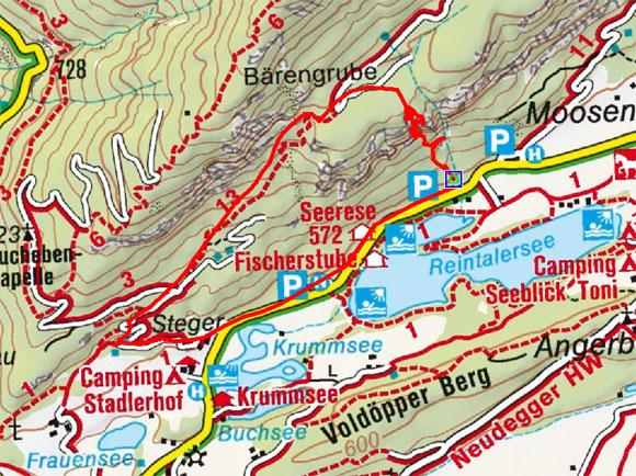 Klettersteig Reintalersee in Kramsach