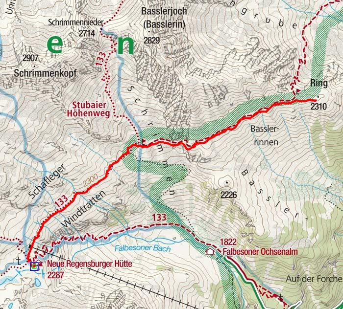 Ring (2310 m) von der Neuen Regensburger Hütte