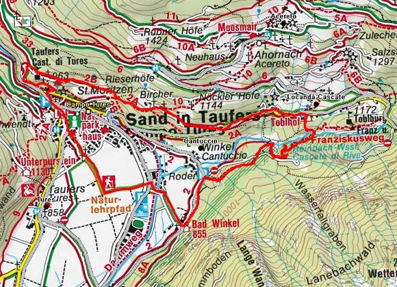 Tauferer Ritterweg mit Franziskusweg