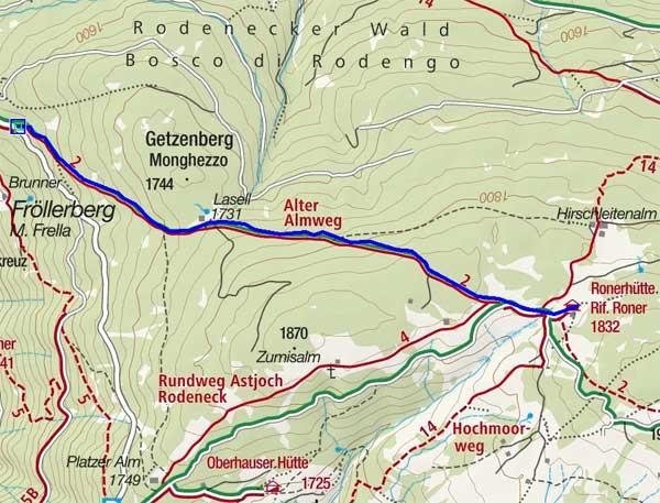 Ronerhütte Alter Almweg - Naturrodelbahn