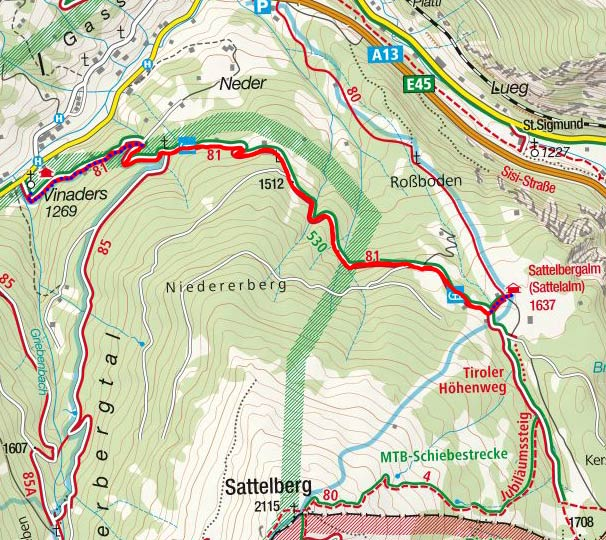 Sattelbergalm - Naturrodelbahn