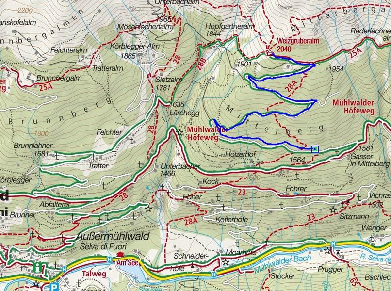 Naturrodelbahn Weizgruber Alm - Außermühlwald