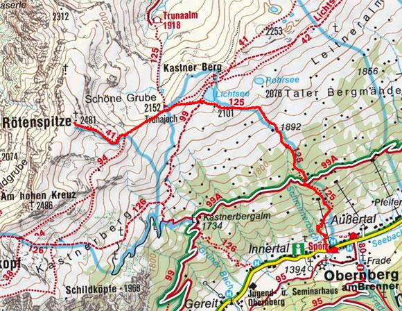 Rötenspitze (2481 m) vom Almis Berghotel