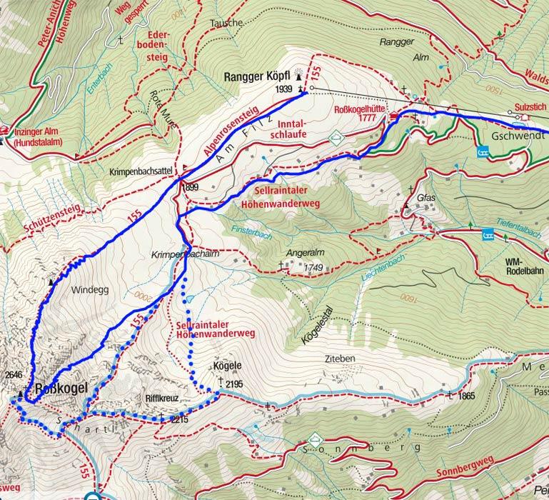 Rosskogel-Überschreitung (2646 m) vom Rangger Köpfl