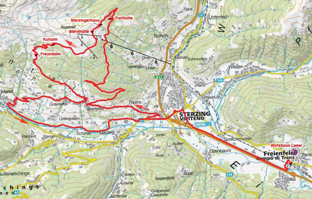 Rosskopf-Rundfahrt vom Wirtshaus Lener