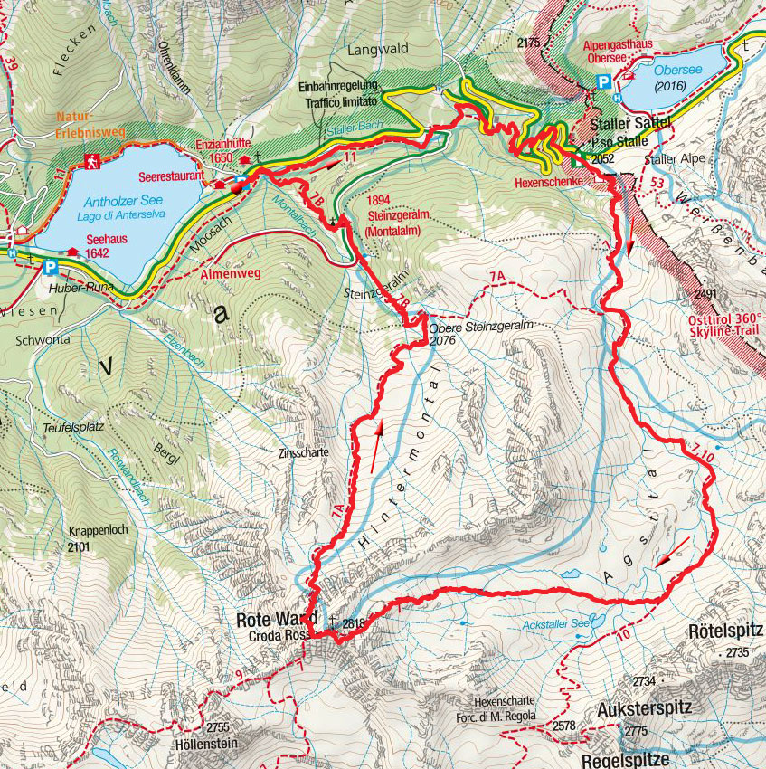 Rote Wand - Rundtour vom Antholzer See