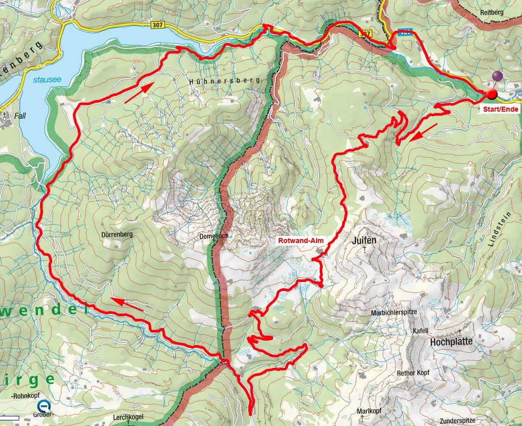 Rotwandalm – Bächental Runde vom Hagen Kirchlein