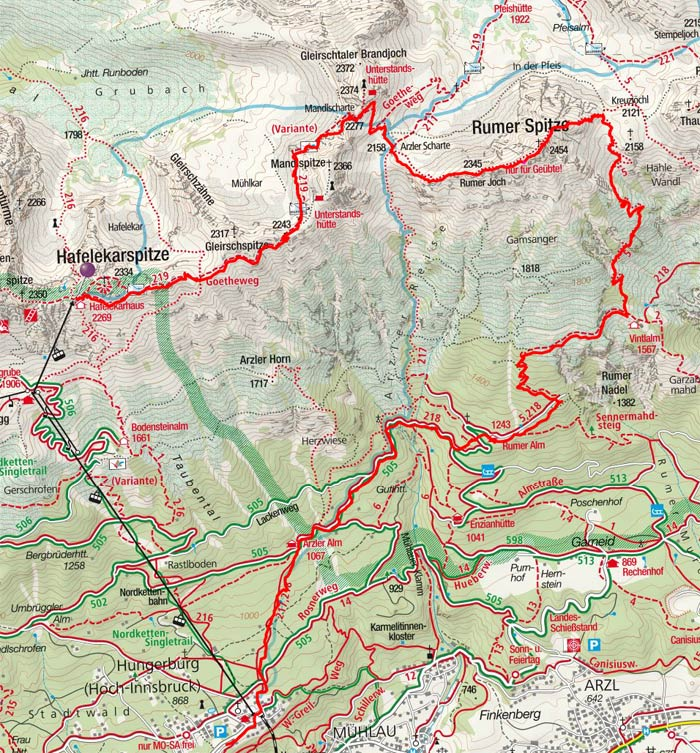 Rumer Spitze (2454 m) vom Hafelekar