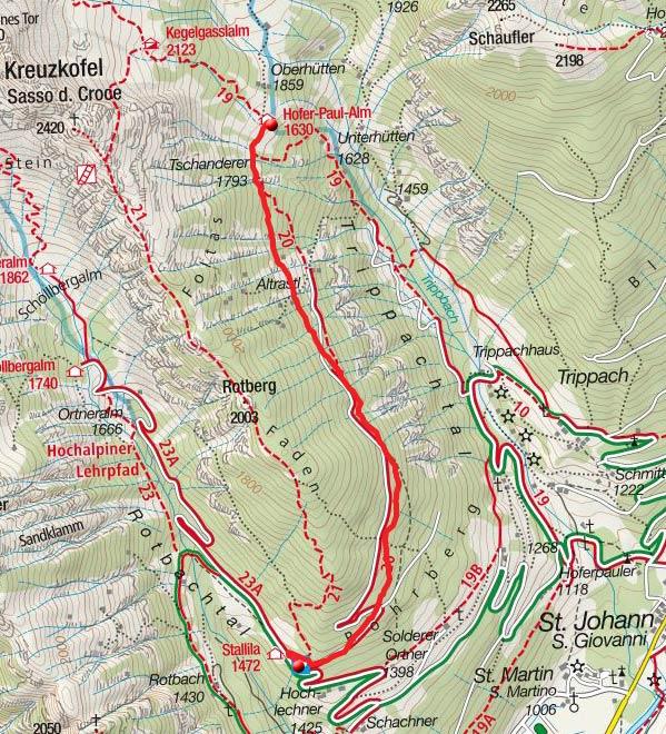 Russbachalm (1830m) vom Berggasthof Stallila