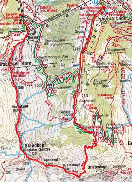 Sagtalerspitze (2241 m) von der Wiedersbergerhornbahn