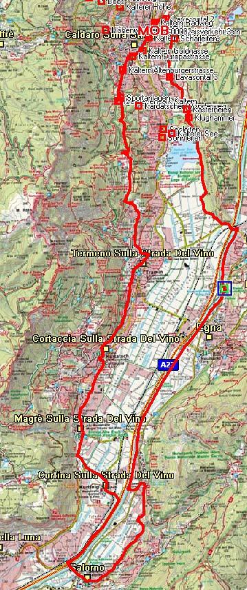 Weinstraßen Rundtour im Südtiroler Unterland