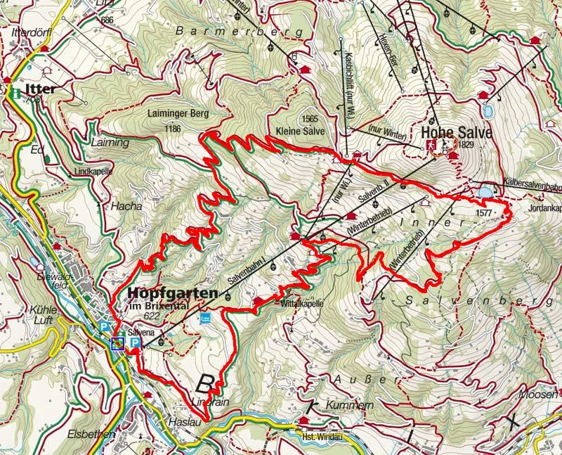 Salvensee – Hohe Salve Rundfahrt von Hopfgarten