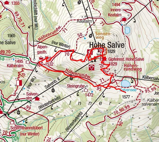Rundwanderung Hohe Salve - Rigi - Salvensee