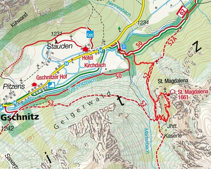 St. Magdalena Klettersteig in Gschnitz