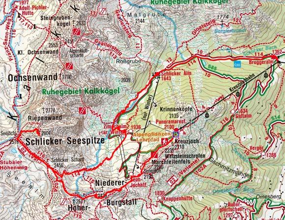 Schlicker Seespitze (2804 m) aus der Schlick