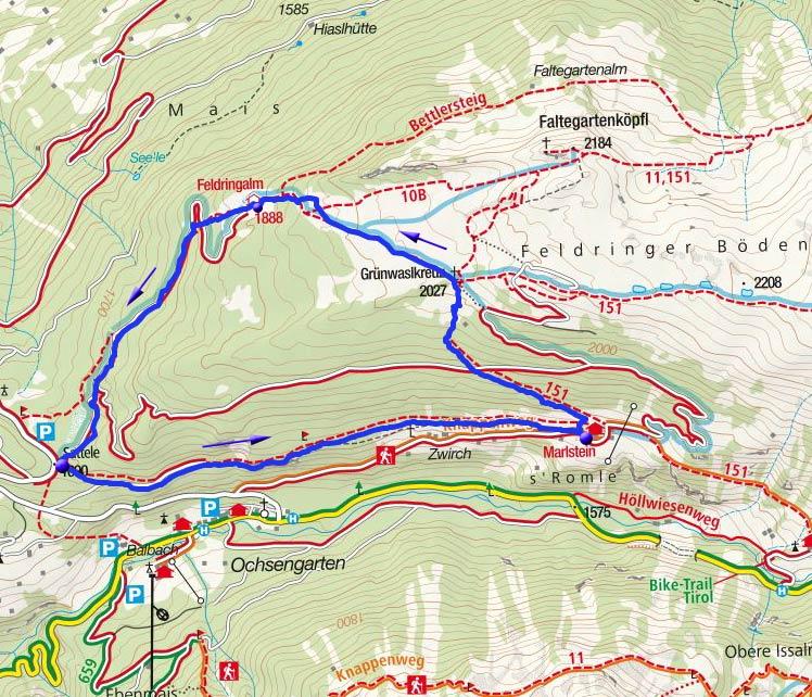 Am Kaiser-Franz-Josef-Weg auf die Feldringer Böden
