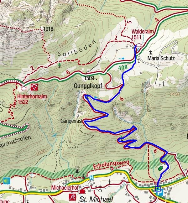 Walderalm (1511 m) von Gnadenwald