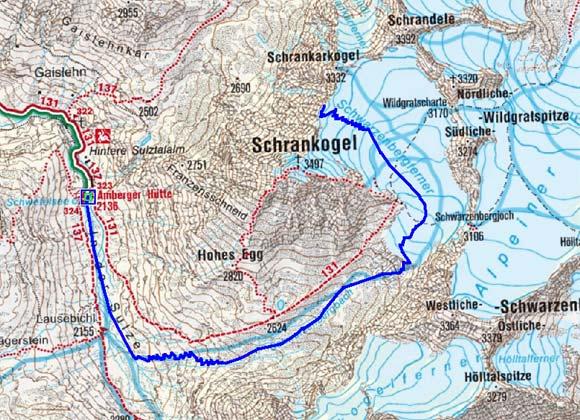 2 Tag: Amberger Hütte-Schrankarkopf-Amberger Hütte