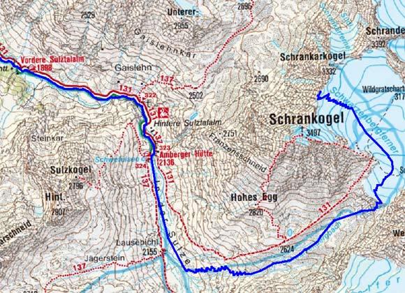 Schrankarkopf (3308 m) von Gries