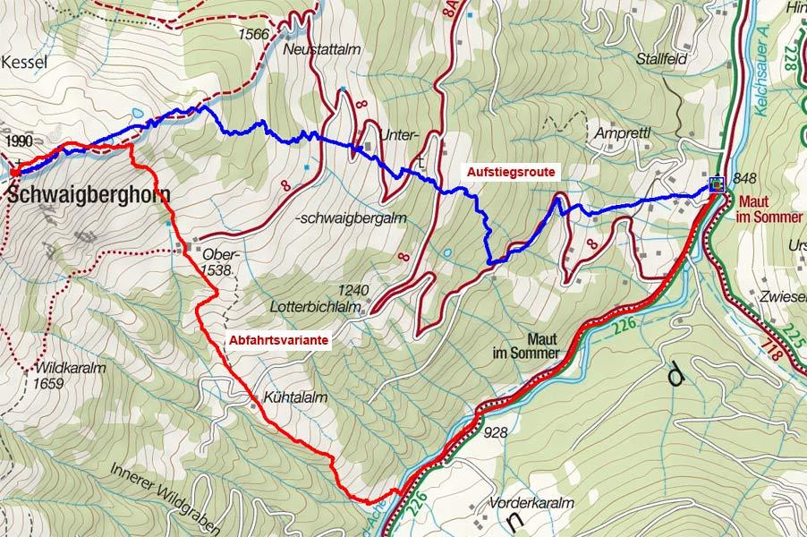 Schwaigberghorn (1990 m) aus der Kelchsau