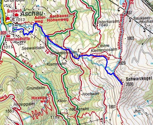 Schwarzkogel (2030 m) von Aschau