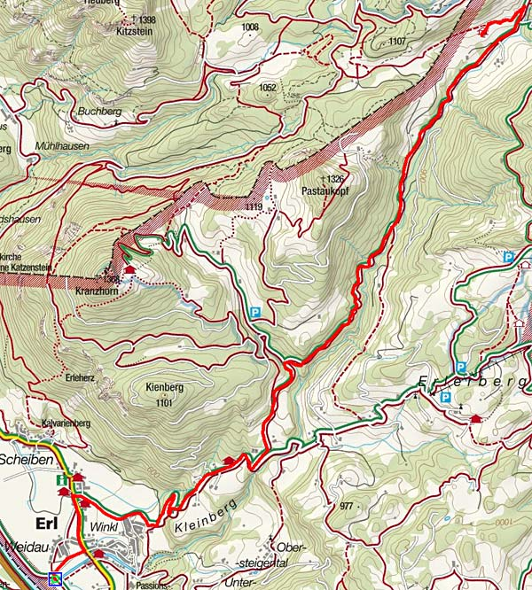 Schwarzrieshütte (970 m) von Erl