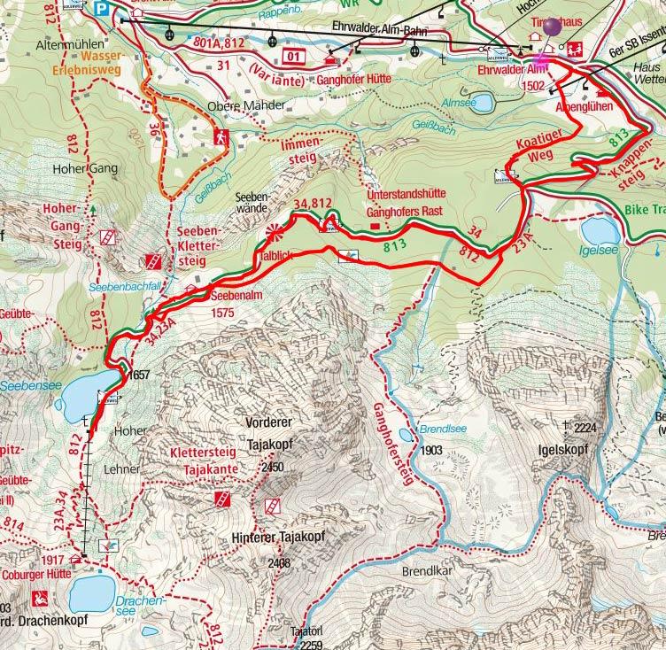 Seebensee (1657 m) von der Ehrwalder Almbahn