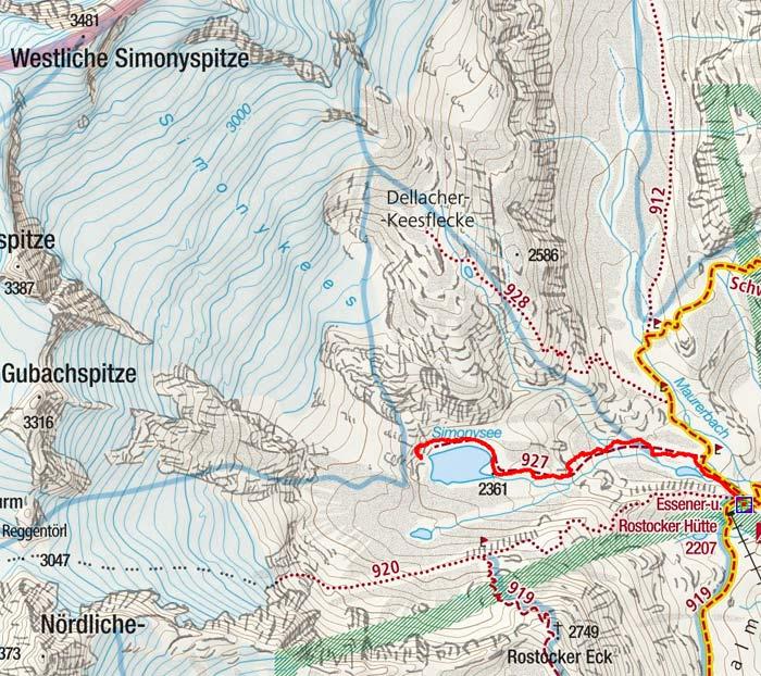 Simonysee (2361 m) von der Essener Rostocker Hütte