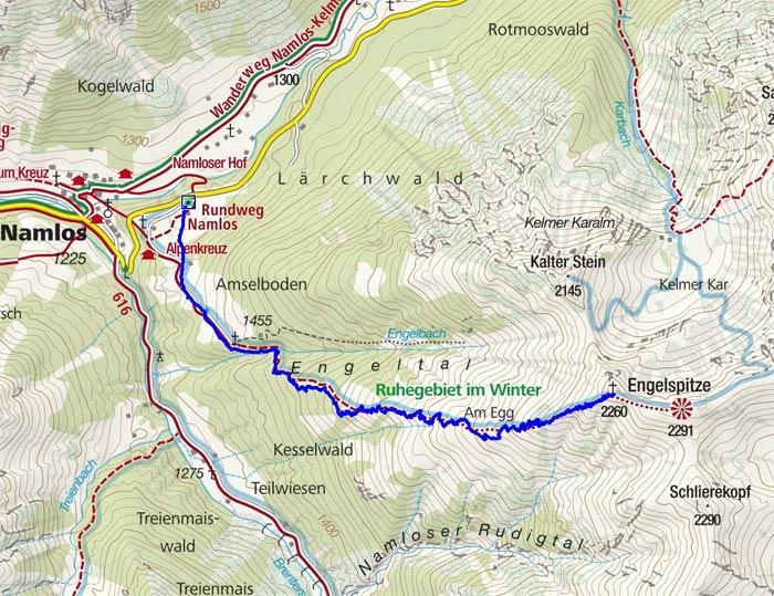 Engelspitze (2260 m) von Namlos