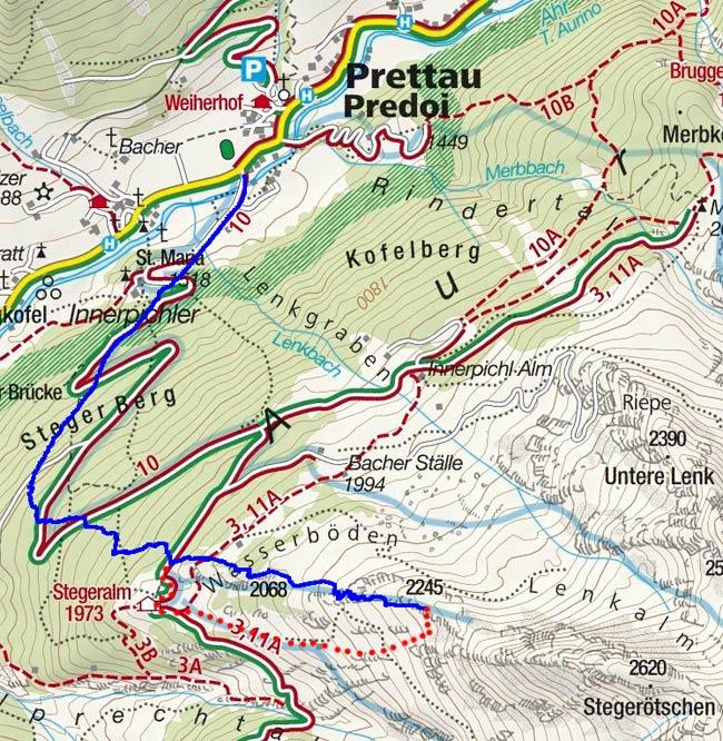 Golatsch (2245 m) von Prettau