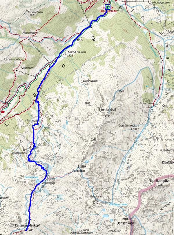 Kastenwendenkopf (2329 m) aus dem Langen Grund
