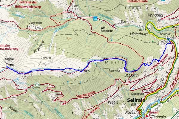 Kögele (2195 m) vom Weiler Tauegert