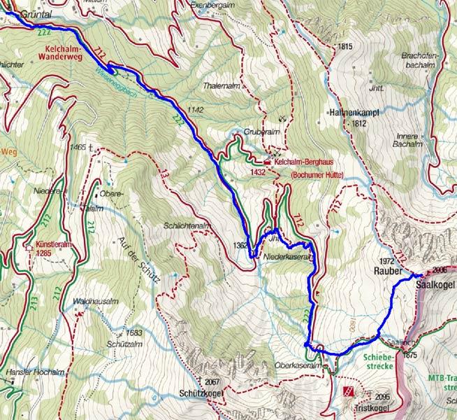 Saalkogel (2006 m) von Wiesenegg-Grüntal