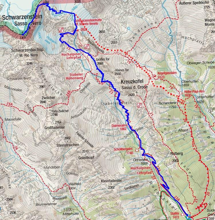 Schwarzenstein (3369 m) durch das Rotbachtal