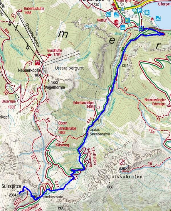 Sulzspitze (2084 m) von Haldensee