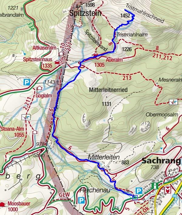 Tristmahlnschneid (1452 m) von Sachrang