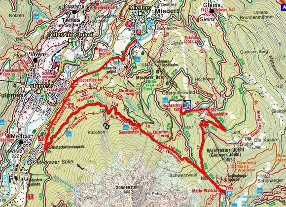 Bergstation Hochserles-Maria Waldrast-Gasthaus Sonnenstein