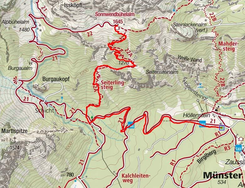 Sonnwendbichlalm (1645 m) von Höllenstein