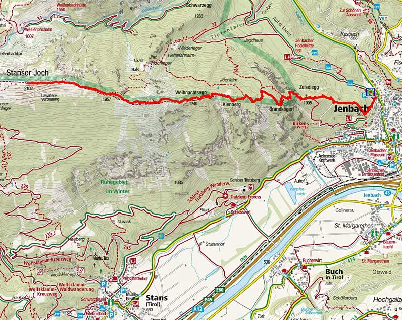Stanser Joch (2102 m) von Jenbach