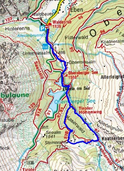 Steineralm - Kaserwaldrunde